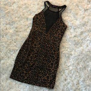 Motel Rocks Animal Print Mini Dress